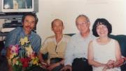 Đỗ Minh Tuấn, Nguyễn Văn Thọ và vợ chồng nhà văn Nguyễn Mộng Giác tại Hà Nội.